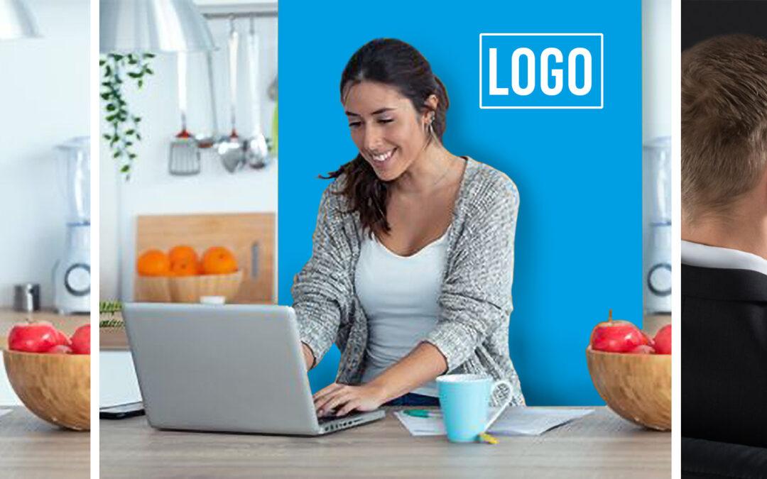 Maak je thuiswerkplek professioneel met deze roll-up banner